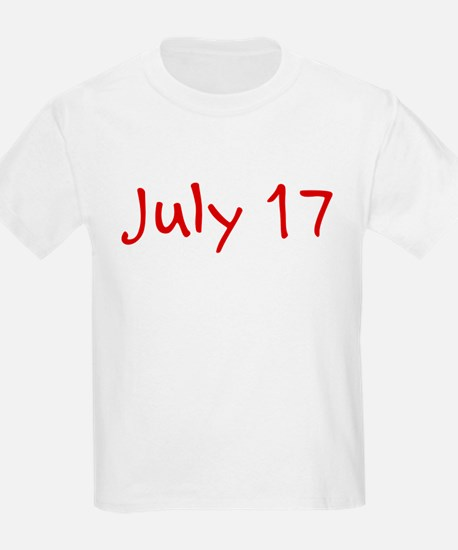 """July 17"" printed on a T-Shirt"