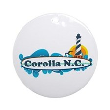 Corolla NC - Lighthouse Design Ornament (Round)