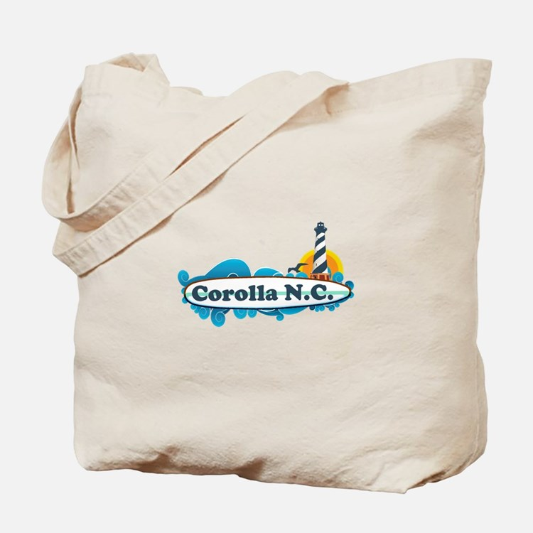 Corolla NC - Lighthouse Design Tote Bag