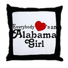 Everybody Hearts an Alabama G Throw Pillow