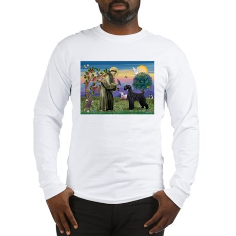 St. Francis & Giant Schnauzer Long Sleeve T-Shirt