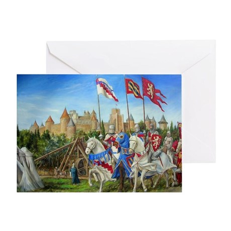 Siege of Carcassonne Greeting Card