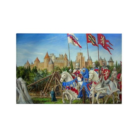 Siege of Carcassonne Rectangle Magnet (10 pack)