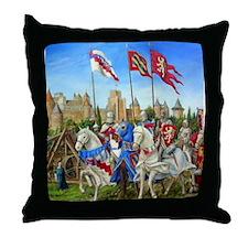 Siege of Carcassonne Throw Pillow