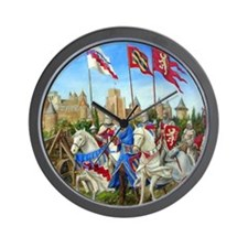 Siege of Carcassonne Wall Clock