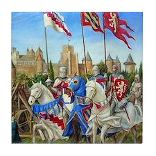 Siege of Carcassonne Tile Coaster