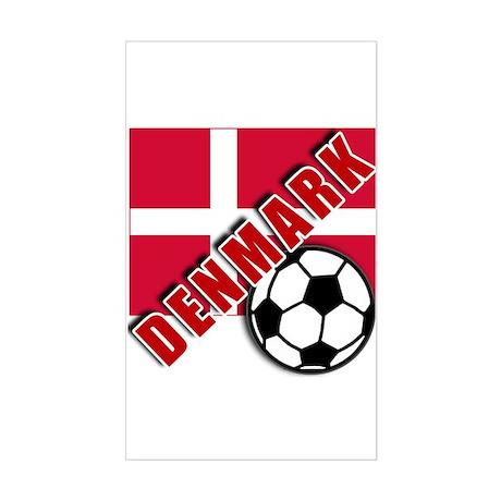 World Soccer Denmark Sticker (Rectangle)