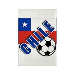 World Soccer CHILE Rectangle Magnet (10 pack)