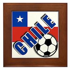 World Soccer CHILE Framed Tile