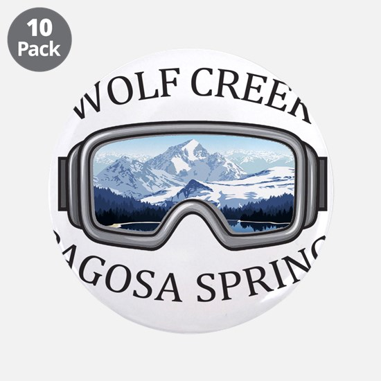 "Wolf Creek Ski Area - Pago 3.5"" Button (10 pack)"