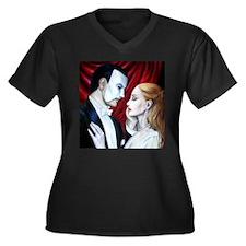 Phantom Women's Plus Size V-Neck Dark T-Shirt