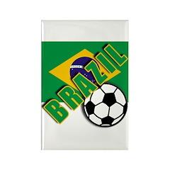 World Soccer BRAZIL Rectangle Magnet