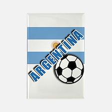 World Soccer Argentina Rectangle Magnet