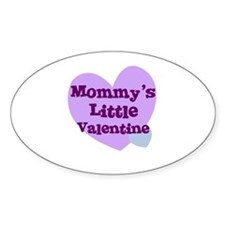 Mommy's Little Valentine Oval Decal