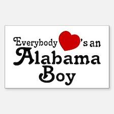Everybody Hearts an Alabama B Sticker (Rectangle)