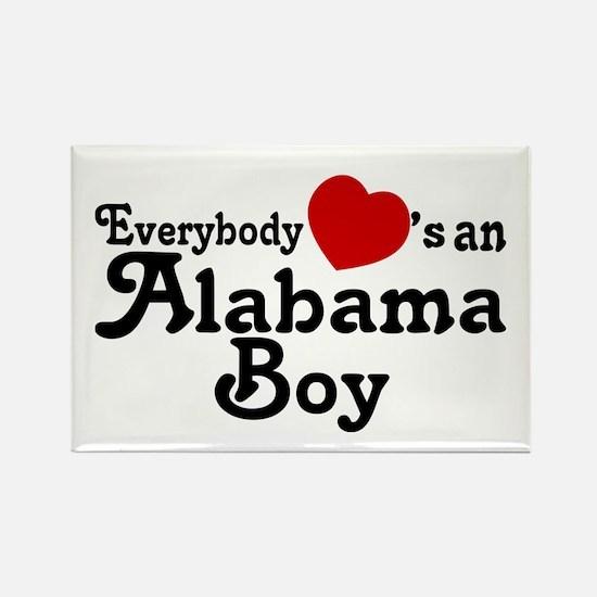 Everybody Hearts an Alabama B Rectangle Magnet