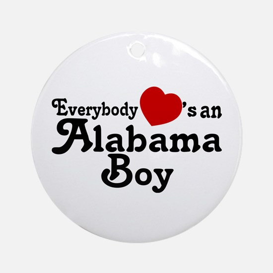 Everybody Hearts an Alabama B Ornament (Round)