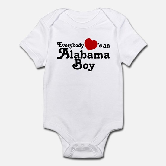 Everybody Hearts an Alabama B Infant Bodysuit