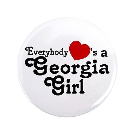 """Everybody Hearts a Georgia Gi 3.5"""" Button"""
