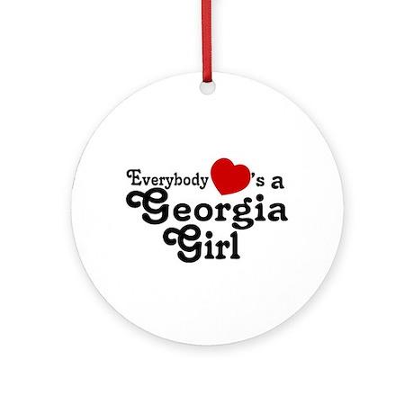 Everybody Hearts a Georgia Gi Ornament (Round)