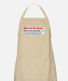 """""""Never See Come See"""" BBQ Apron"""