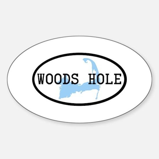 Woods Hole Sticker (Oval)