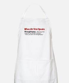 """""""Broughtupsy"""" BBQ Apron"""