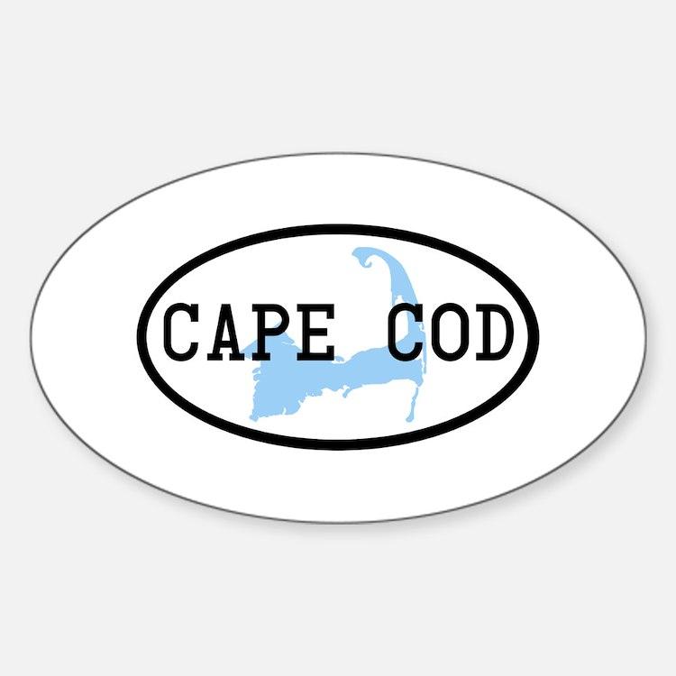 Cape Cod Sticker (Oval)