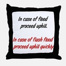 proceed uphill Throw Pillow