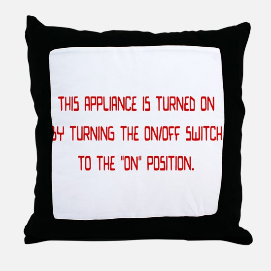 on/off switch Throw Pillow