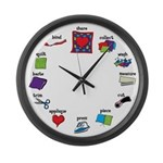 Quilter's Clock Large Wall Clock