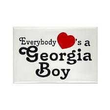 Everybody Hearts a Georgia Bo Rectangle Magnet