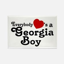 Everybody Hearts a Georgia Bo Rectangle Magnet