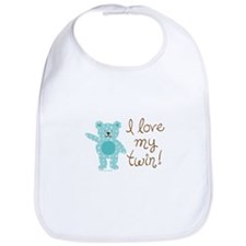 Cute Funny twins Bib