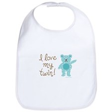 Cool Funny twins Bib