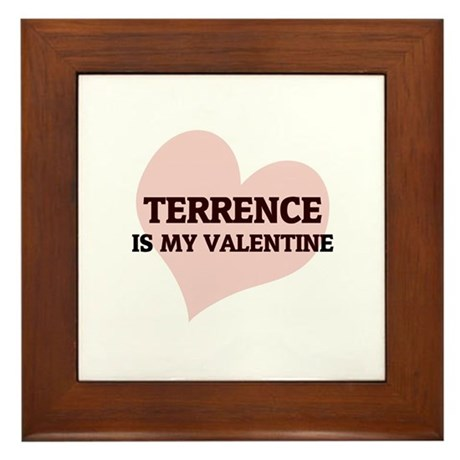 Terrence Is My Valentine Framed Tile