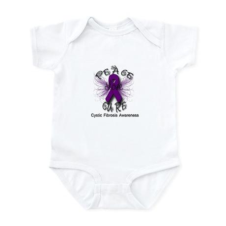 Cystic Fibrosis Awareness Pea Infant Bodysuit