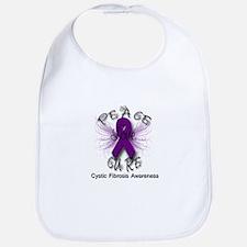 Cystic Fibrosis Awareness Pea Bib