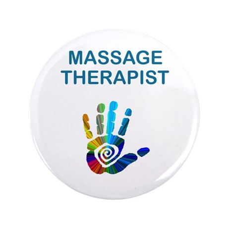 "MASSAGE THERAPIST 3.5"" Button"