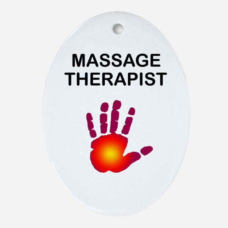Massage Therapist Ornament (Oval)