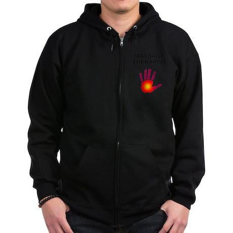 Massage Therapist Zip Hoodie (dark)