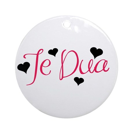 Te Dua Ornament (Round)