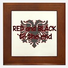 Red & Black Framed Tile