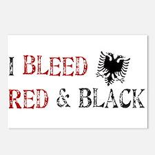 Bleed Red & Black Postcards (Package of 8)