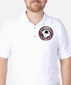 USA Soccer (distressed) Golf Shirt