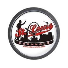 St. Louis Missouri Cornhole Game Wall Clock