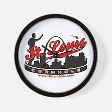 St. Louis Missouri Cornhole Game Wall Clock