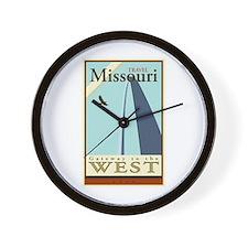 Travel Missouri Wall Clock