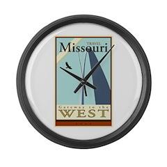 Travel Missouri Large Wall Clock