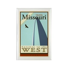 Travel Missouri Rectangle Magnet